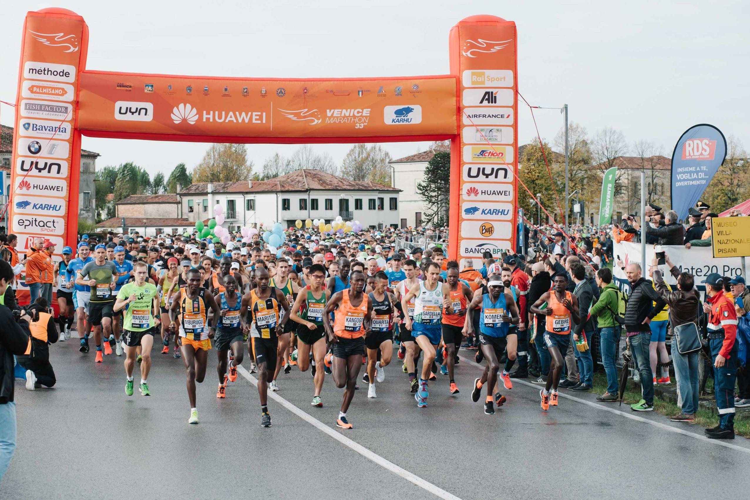 Huawei Marathons gruppo di concorrenti