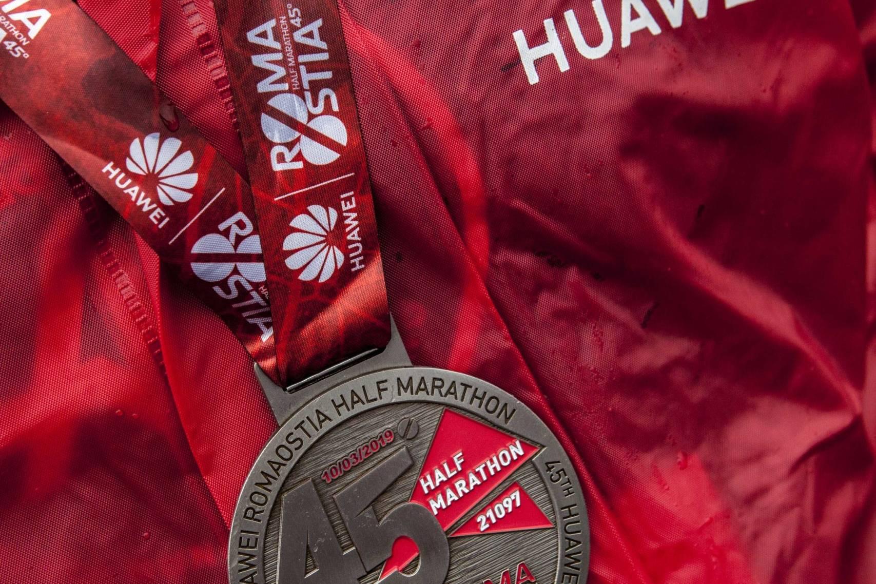 medaglia partecipazione huawei marathon
